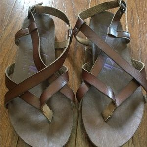Blowfish brown strappy sandals